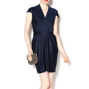 ASOS Cocktail Fit & Flare Dress Sz 22 Navy Blue